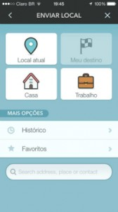 enviar local waze