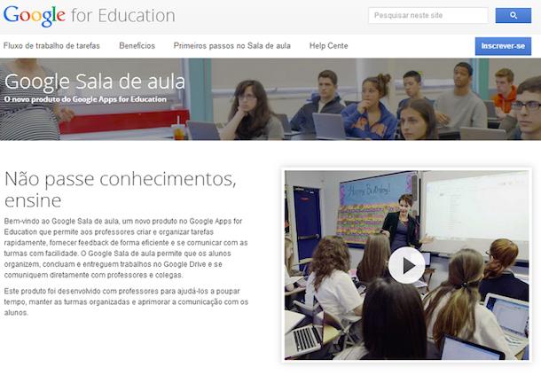 google sala de aula
