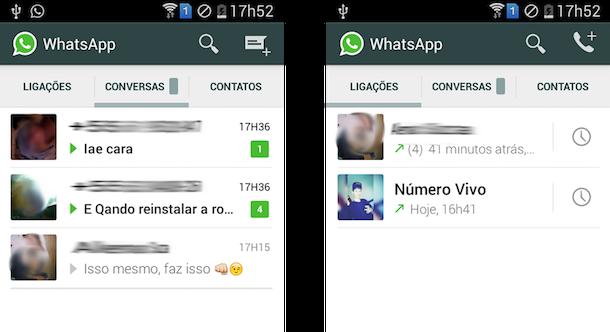 recurso de chamadas no whatsapp